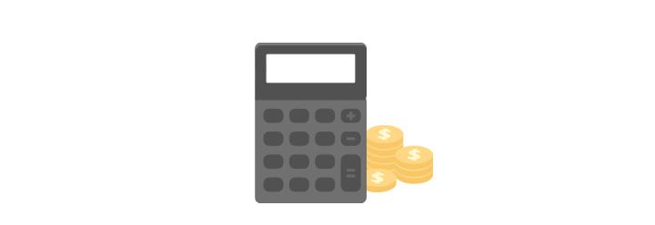 Taschenrechner mit Geld im Hintergrund